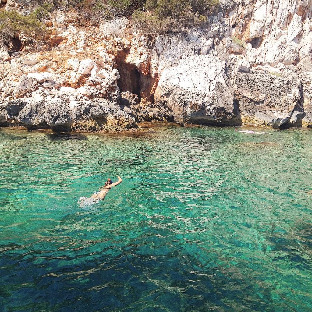 Me snorkeling in Alghero