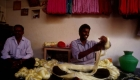 How is sari made