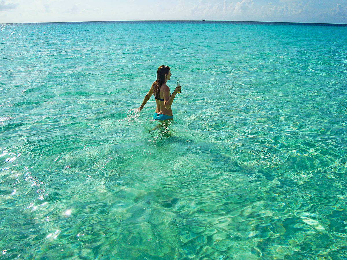 Me in the Caribbean Sea