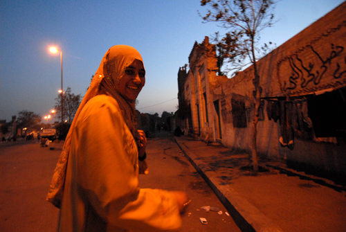 "Egypt, Cairo:Life in Dead City In the center of Segida Nafisa cemetery life never ends.... Seventeen year old Samar says: ""I live just above a couple of scientists"", and she runs to her trackman fiance"