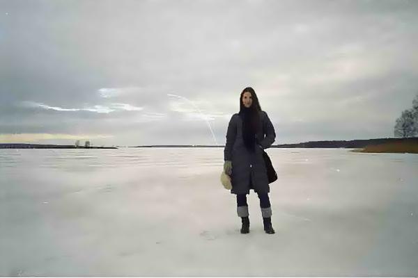 Πάνω στην παγωμένη λίμνη Vänern, τη μεγαλύτερη της Σουηδίας