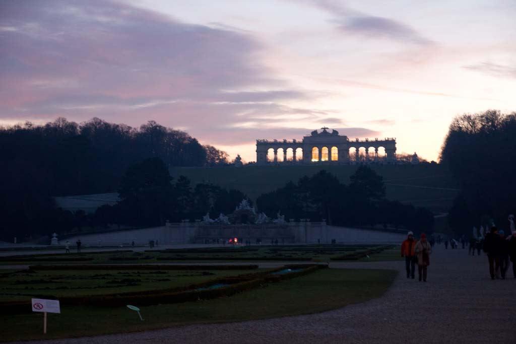 Schonbrunn sunset