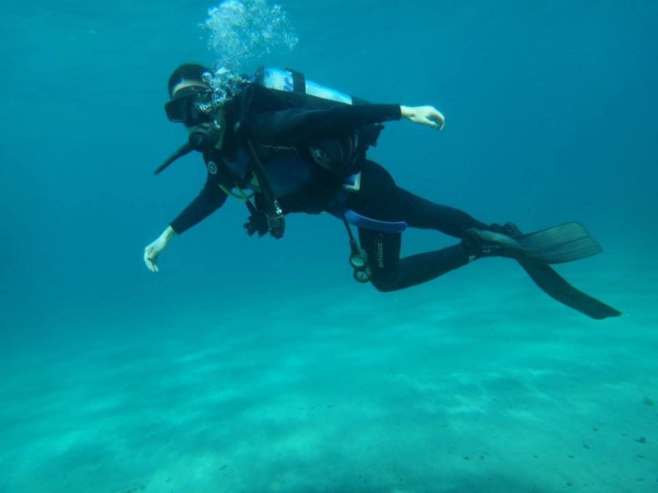 diving course with aqualine