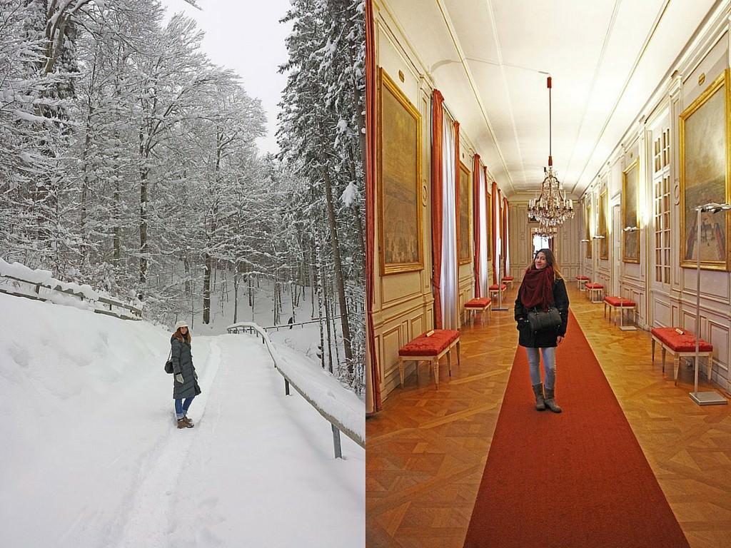 Αριστερά, στο Fussen. Δεξία, στο παλάτι Nymphenburg