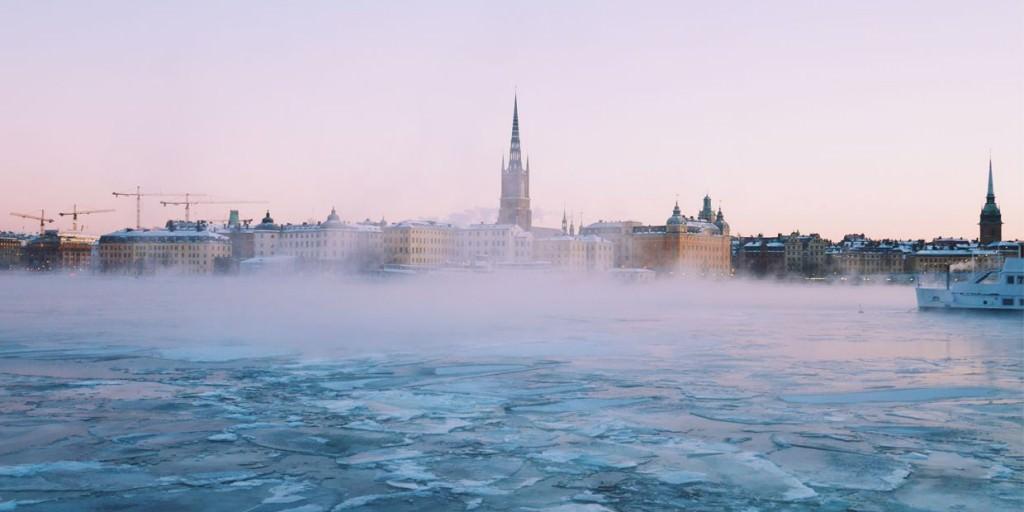 Η παγωμένη θάλασσα της Στοκχόλμης τον Χειμώνα