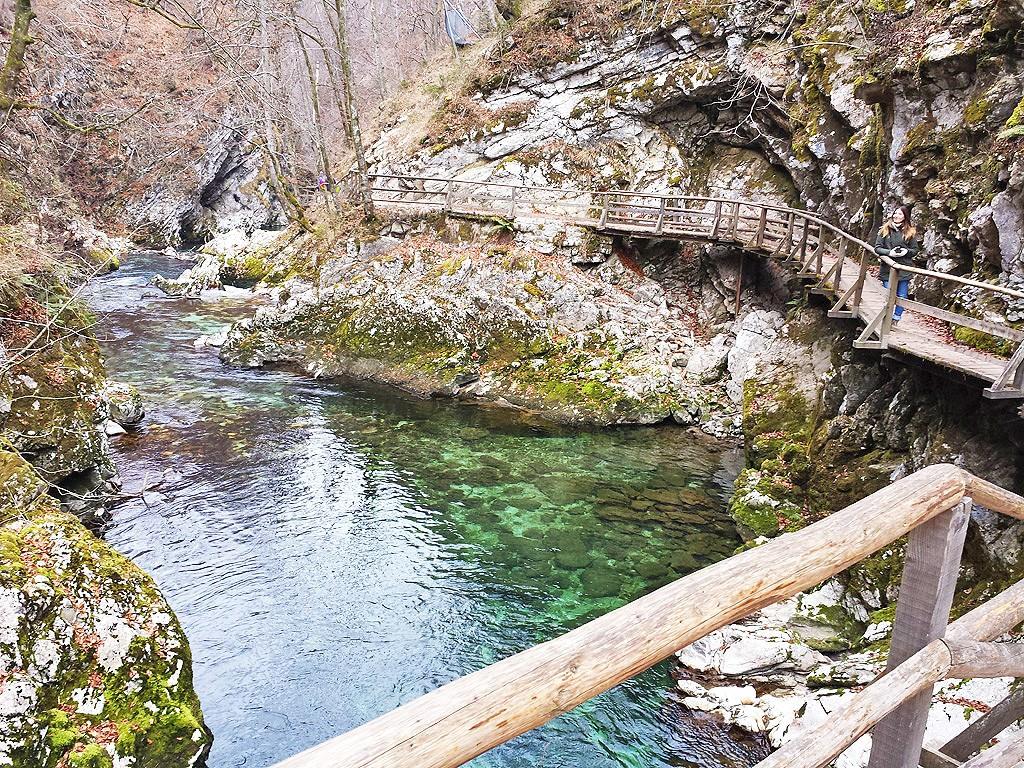 Στο φαράγγι Vintgar, κοντά στο Bled