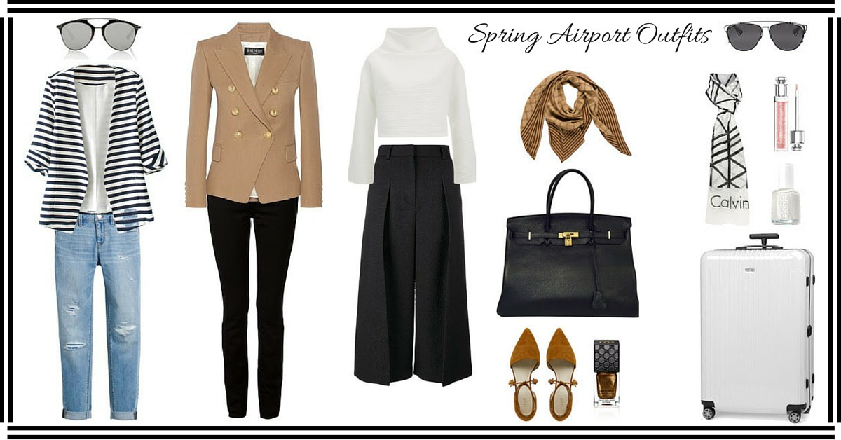 Travel Style: Spring Airport Outfits