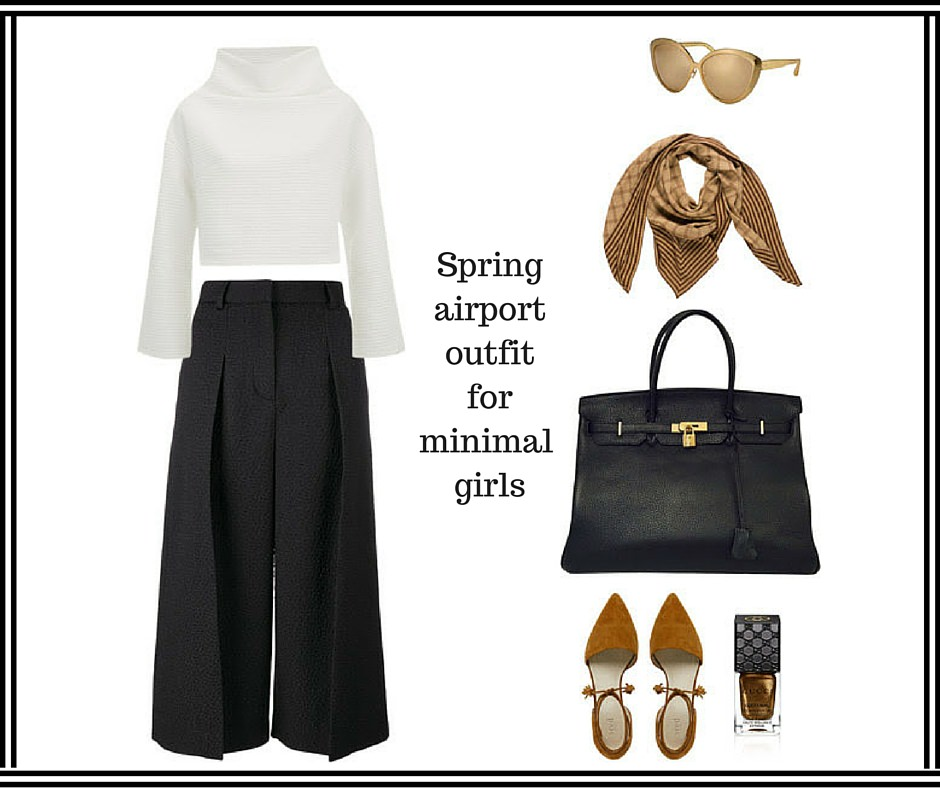 minimal airport outfit