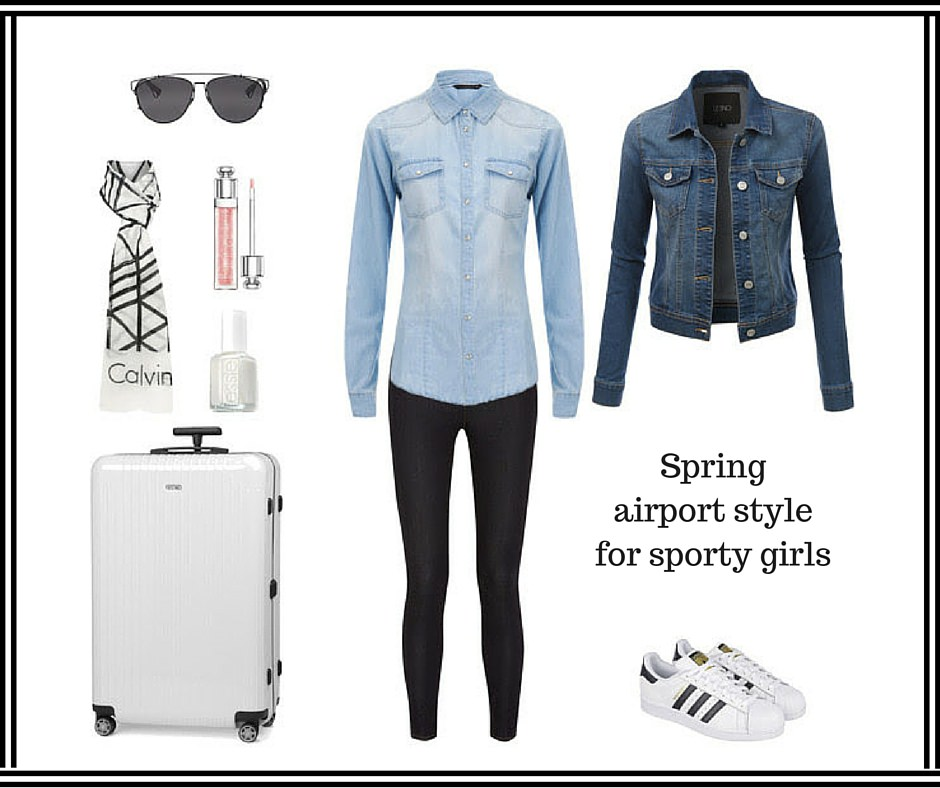 sporty airport outfit