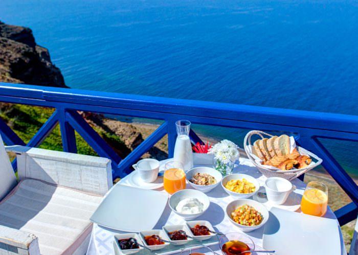Breakfast view from Astarte Suites