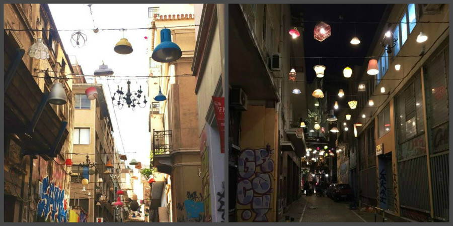 Pittaki Street (Day vs Night)