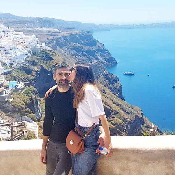 Our Romantic Getaway in Santorini Greece
