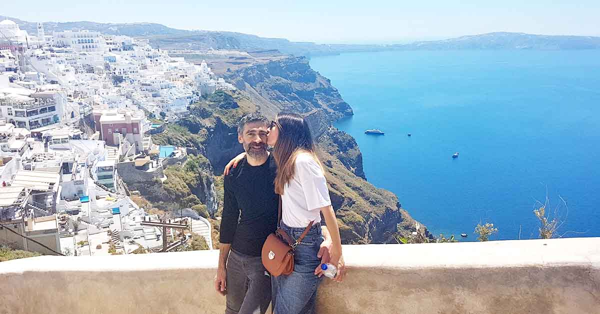 Our Romantic Getaway in Santorini Greece
